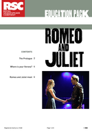 RSC Teaching Ideas: Romeo & Juliet by Shakespeare