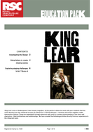 RSC Education Pack - King Lear by Shakespeare