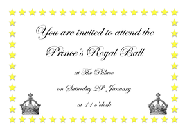 Royal ball invitation cinderella by graceteach for Cinderella invitation to the ball template