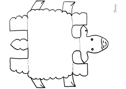 lamb cut out template - 3d sheep