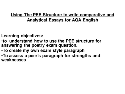 Comparing poems essay