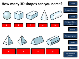 Storbritannien premium urval gymnastikskor Name 3D Shapes - PowerPoint - KS2/KS3 | Teaching Resources