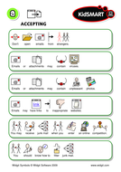 Widgit symbols Flash cards