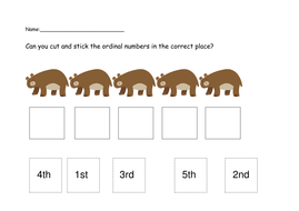 Ordinal numbers by jillb2002 - Teaching Resources - Tes