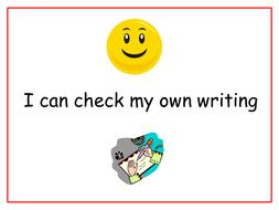 Checklist for sentence writing