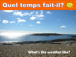 weather powerpoint for french by kesmfl teaching resources tes