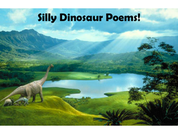Silly Dinosaur Poems and worksheet.