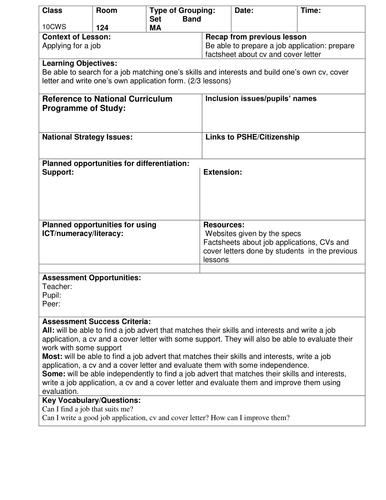 BTEC Workskills Applying for a job by frenchwizard - Teaching ... on job letter, job openings, job payment receipt, cv form, job advertisement, cover letter form, job search, job applications you can print, job applications online, employee benefits form, job requirements, job vacancy, job resume, job opportunity, agreement form, contact form,
