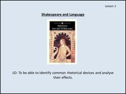 Powerpoint: Shakespeare's Language - Focus on AO2