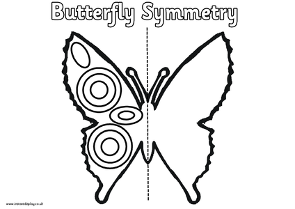 Spring Symmetry Worksheets,eggs,butterfly, flowers
