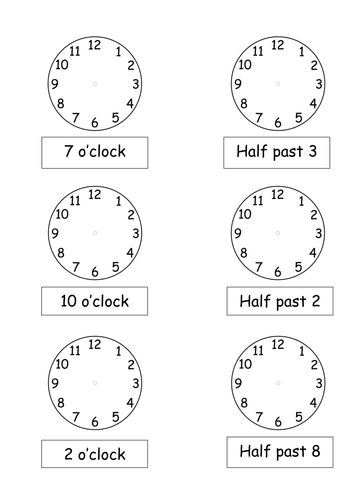 o 39 clock and half past times by pickup01 teaching