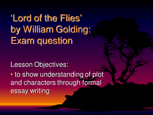 Analytical essay on lord of the flies