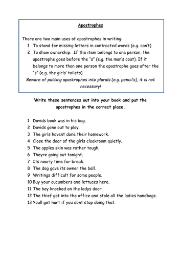 How To Write A Letter With Apostrophe