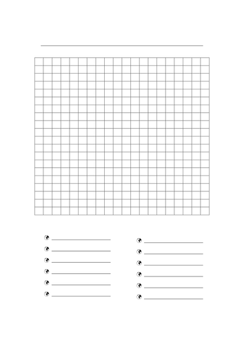 create your own word search template - blank wordsearch by freckle06 teaching resources tes