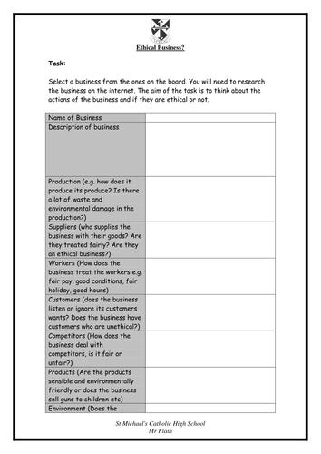 Fourth Grade (Grade 4) Ethics Questions