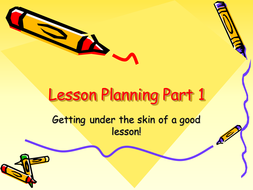 Lesson planning part 1 and 2