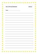 Very simple lined paper with star boarder