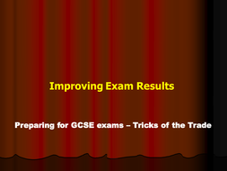 Preparing pupils for exams - getting to C grade