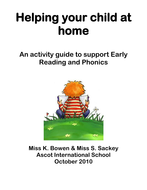 Parent resources for reading and phonics