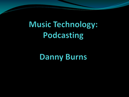PODCASTING - What is Podcasting
