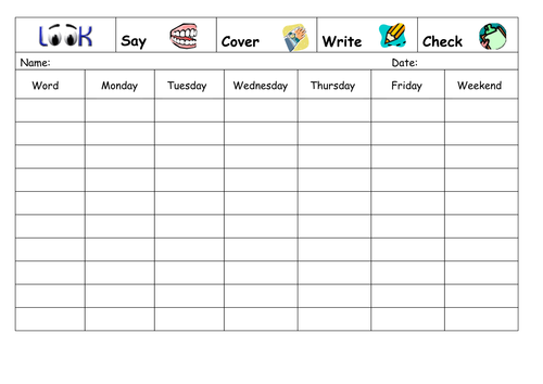 Spelling Book Cover Template : Spelling sheets by wendzd teaching resources tes