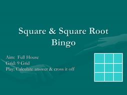 Square & squareroot Bingo.ppt