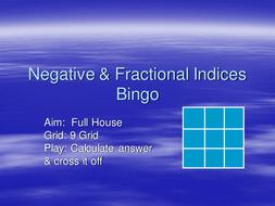 neg & fractional indices Bingo.ppt