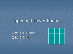 upper and lower bounds bingo.ppt