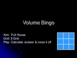 Volume Bingo.ppt