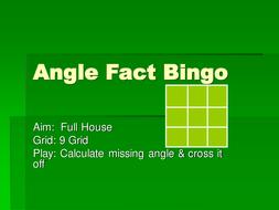 Maths Geometry and Shape Bingo Game - KS3 GCSE