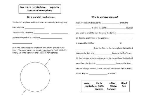 Reason For Seasons Worksheet Sharebrowse – Reasons for Seasons Worksheet