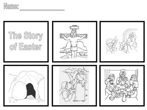 The Easter Story Sequence the story by SaintAnnes Teaching – Story Sequence Worksheets