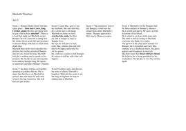 Macbeth Timeline Act 3.doc