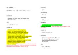 Macbeth Study Notes: Printable Worksheet Handouts