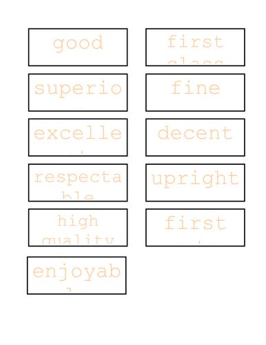 Synonym Wall Display