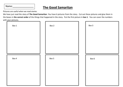 The Good Samaritan Storyboard By Michaelgrange Teaching Resources