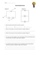 Series & parallel circuits worksheet - Resources - TES