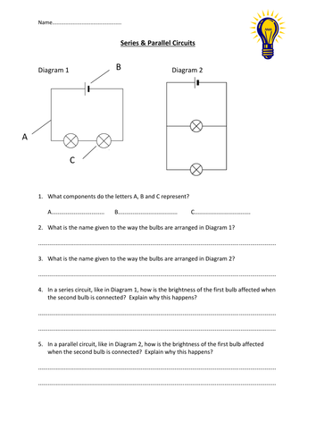 series parallel circuits worksheet by edp10ch teaching resources tes. Black Bedroom Furniture Sets. Home Design Ideas