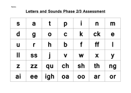 Phonics Letters And Sounds Phase 2 Amp 3 Assessment By