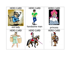 Myths and Legends story cards