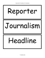 Glossary for Journalistic Reports