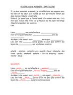 REVISION SHEET: UNE JOURNEE CATASTROPHIQUE (GAP FILL))