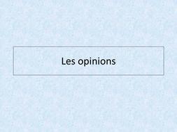 les loisirs - leçon 2 - Les opinions-JCo.ppt