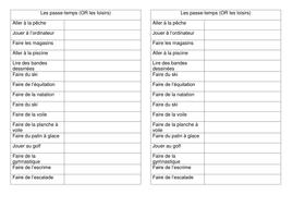 Leçon 5 - Les passe-temps vocab sheet JCo.doc