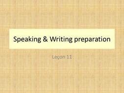 loisirs - leçon 11 - Speaking & Writing preparation - JCo.ppt