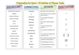 VCOP - Prep for sport - D2 review of fitness.doc