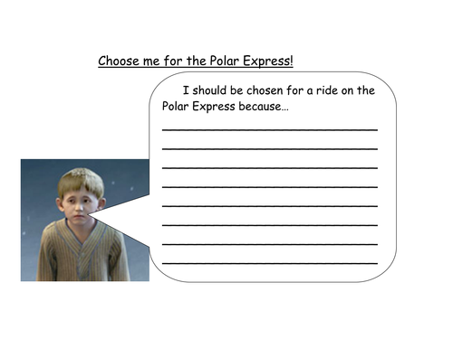 Y2 Polar Express creative week by natalieeea Teaching Resources – Polar Express Worksheets