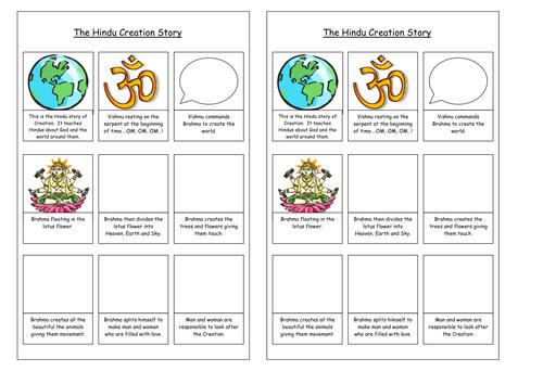 Creation Worksheets Ks2 - creation story ordering by lynn16 teaching ...