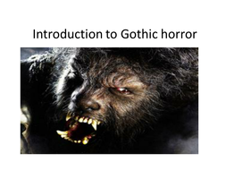 'Dracula' & Gothic basics for Foundation Students