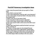 Numeracy investigation ideas.doc